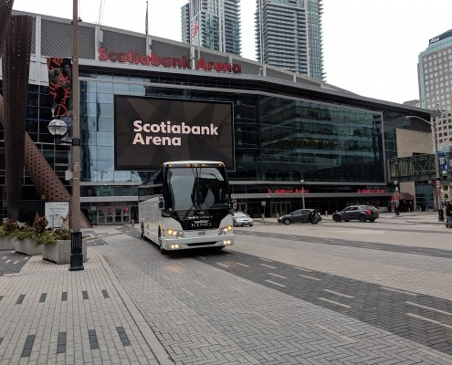 Niagara Tour Bus at Maple Leaf Square
